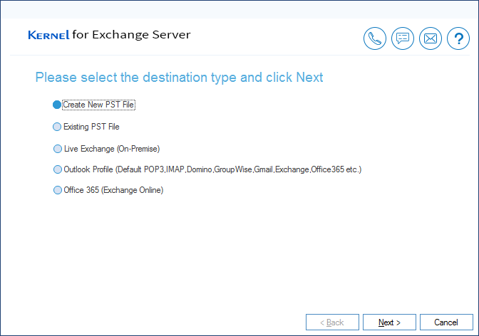MS Exchange Recovery Save Location